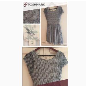 made in san francisco polka dot blue dress